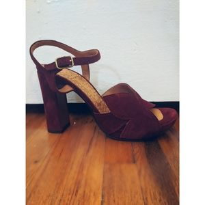 Maroon Pumps (Size 6.5)
